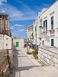 Observation Platform in Molfetta Oldtown. Apulia.