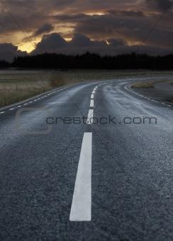 Rural asphalt road