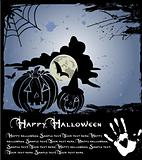 Vector illustration of dark scary halloween night