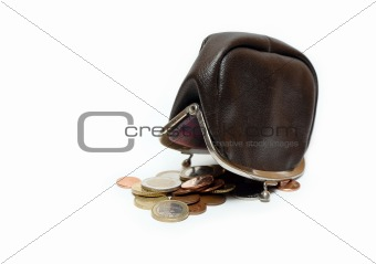 Change Purse And Euro Coins