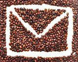 envelope icon is lined with coffee beans