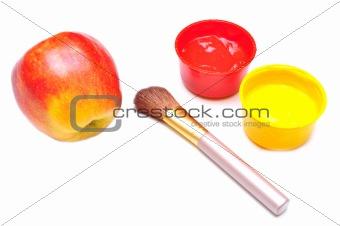 apple and brush