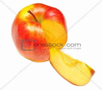 sliced of red apple