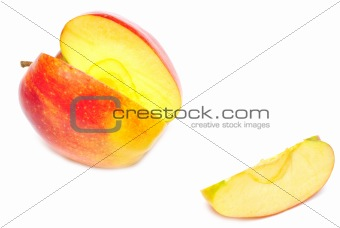 sliced of red apple