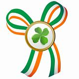 Four leaves clover badge