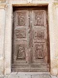 Frontdoor of the Lanfranchi Palace. Matera. Basilicata.