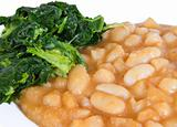 Turnip top and beans.