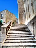 Staircase Giovinazzo Cathedral. Apulia.