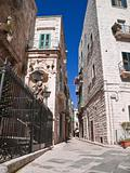 Alley in the Old town of Giovinazzo. Apulia.