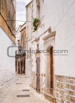 Ancient alley of Martina Franca. Apulia.