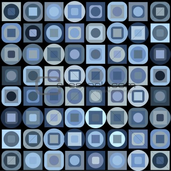 Background with blue geometrical shapes