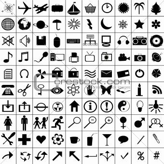 Black icons set