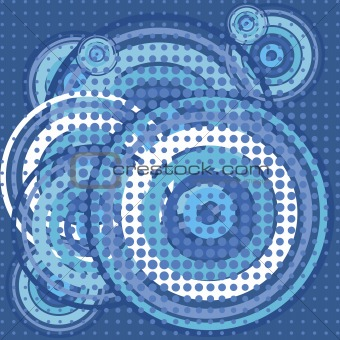 Blue background with aqua circles