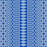 Blue ethnic texture with white elements