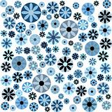 Blue flowers on white background