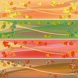 colorful autumn celebration banners
