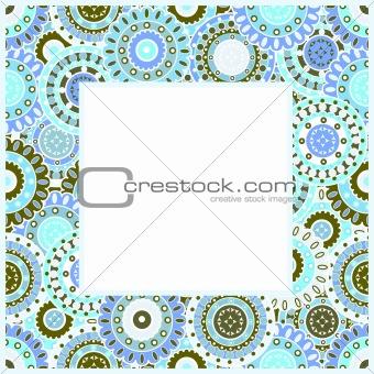 Frame with blue oriental motifs