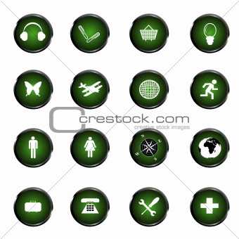 Green web buttons