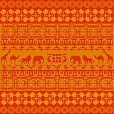 Orange African texture