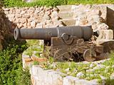 Cannon on turret defense of Monopoli. Apulia.