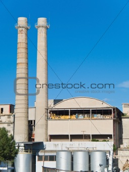 steelworker factory situated in Monopoli. Apulia.