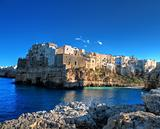 Landscape view of Polignano. Apulia.