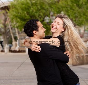 Happy Excited Couple