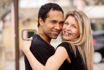 Hug Happy Couple