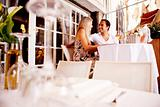 Couple in Outdoor Restaurant