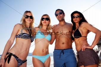 Beach Friends Portrait