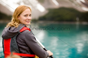 Canoe Portrait Woman