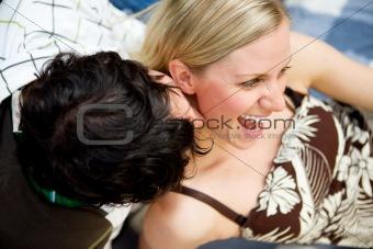 Kiss Flirt Couple