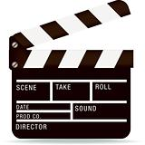 film industry clapperboard
