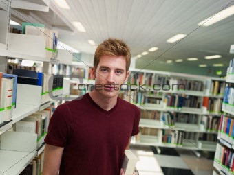 portrait of guy in library