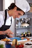 Happy female chef