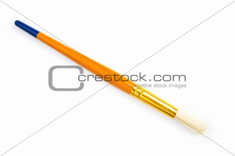 Artists brush isolated on the white background