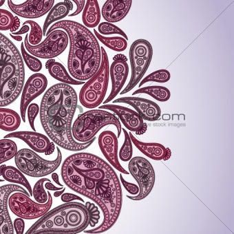 Paisley background with a space for your text
