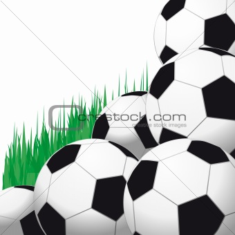 Background with soccer balls.