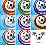 Leader of the set – soccer design elements.