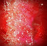 Red mosaic background - vector illustration