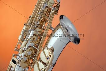 Alto Saxophone Isolated  On Orange
