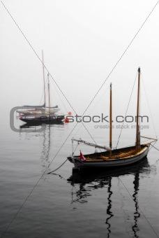 Foggy Boats
