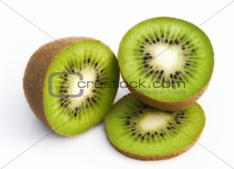 Isolated fresh kiwi