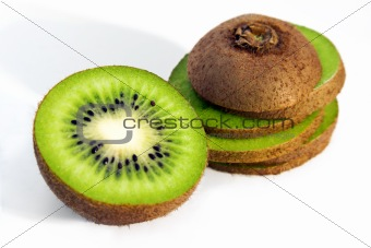 Isolated kiwi on white