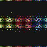 Colorful retro dots