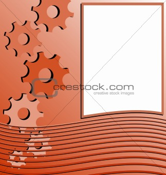 Realistic illustration of orange abstract stripped background