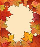 Autumn card with maple