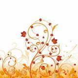 Autumn floral ornament