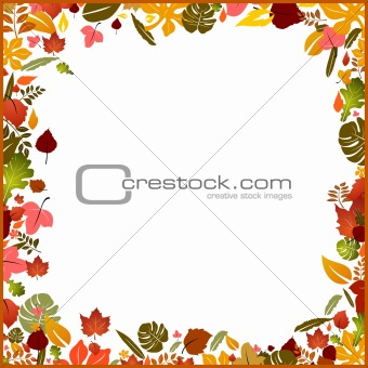 Background autumn frame