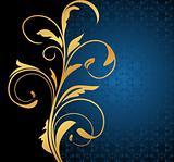 Illustration floral background card